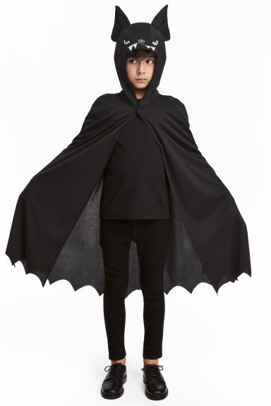 Masquerade Cape - Black/bat - Kids | H&M CA
