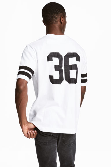 T-shirt with print motifs - White/Black - Men | H&M CN