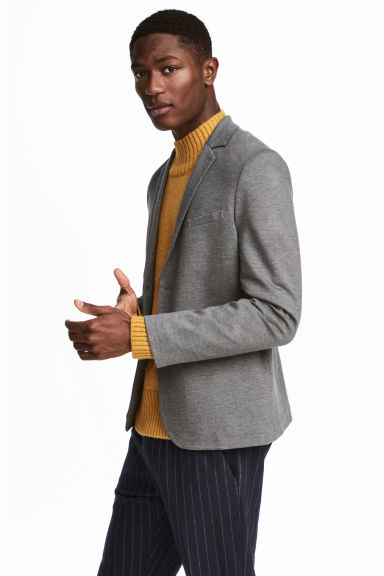 Jersey jacket Slim fit - Grey marl - Men | H&M