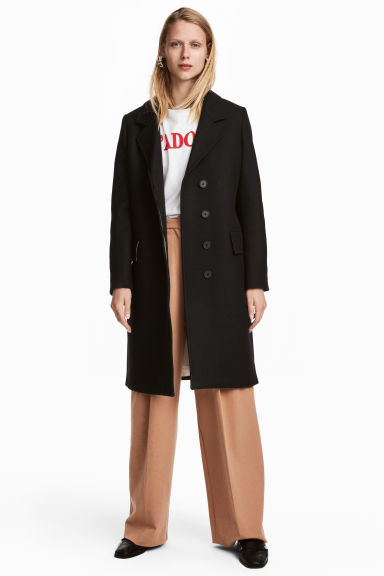 Wool-blend coat - Black - Ladies | H&M GB