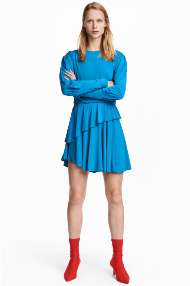 Flounced dress - Blue - Ladies | H&M