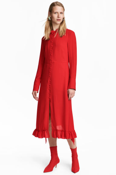 Dress - Bright red - Ladies | H&M GB