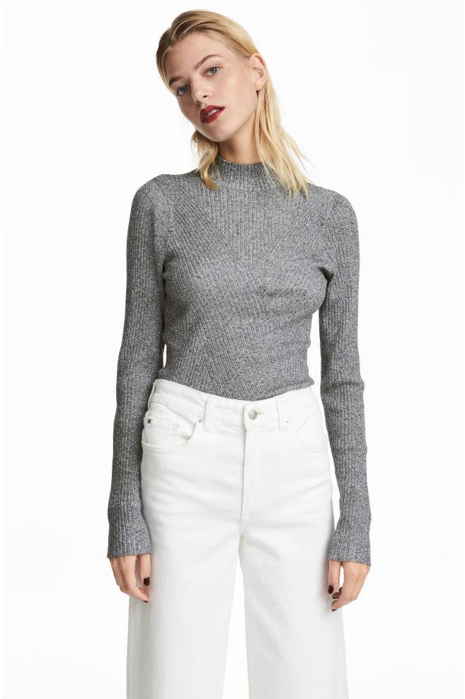 9d764254addcb Mock-turtleneck Sweater - Gray - Ladies | H&M ...