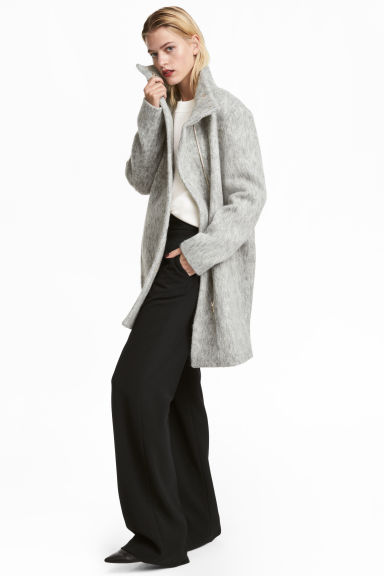 Wool-blend coat - Light grey - Ladies | H&M CN