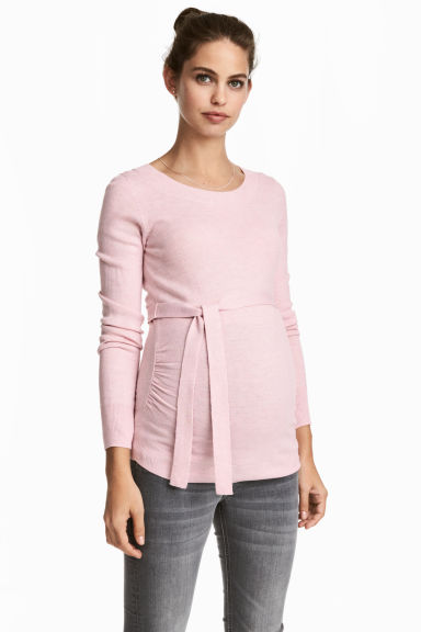 MAMA Fine-knit jumper - Light pink marl - Ladies | H&M