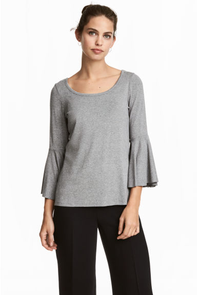 MAMA Nursing top - Grey marl - Ladies | H&M GB