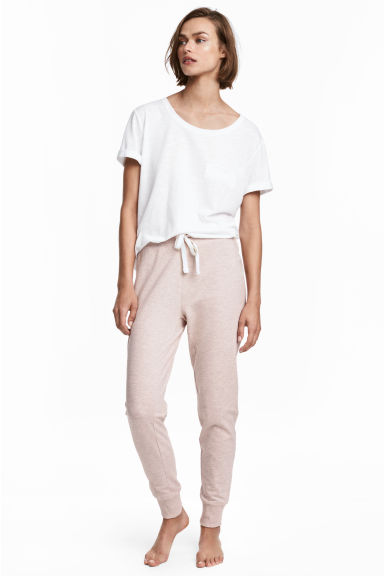 Pyjama bottoms - Pink/Grey marl - Ladies | H&M CN