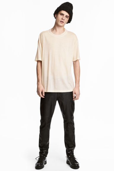 Wool T-shirt - Natural white -  | H&M GB