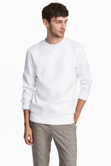 Printed sweatshirt - White - Men | H&M IE