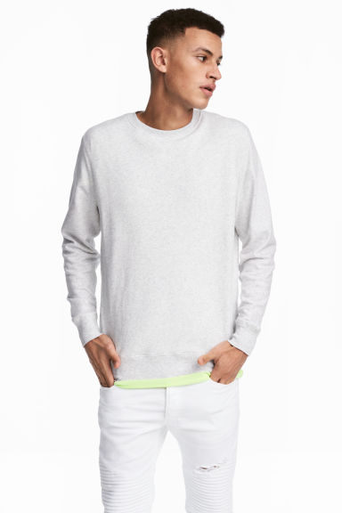Lightweight sweatshirt - Light grey - Men | H&M