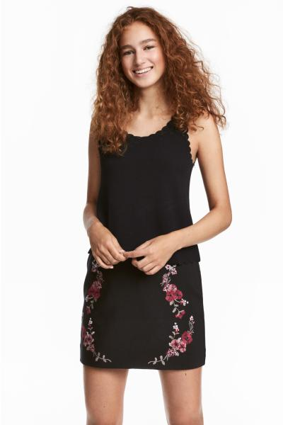 H&M - Jupe avec broderies - 1