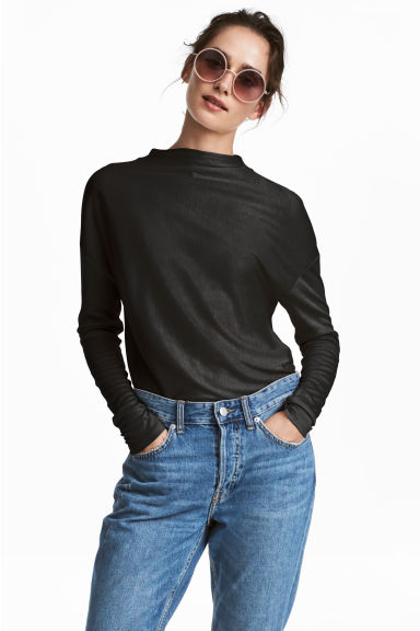 Top in lyocell - Nero - DONNA | H&M IT