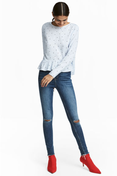 Slim High Trashed Jeans - Denim blue - Ladies | H&M