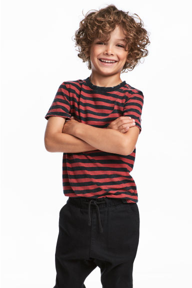 T-shirt - Red/Striped - Kids | H&M CN