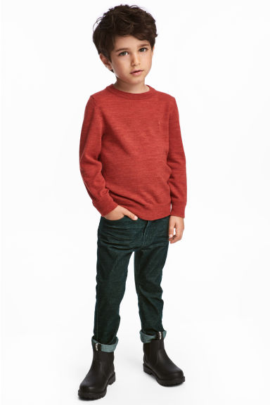 Corduroy trousers - Dark green - Kids | H&M CN