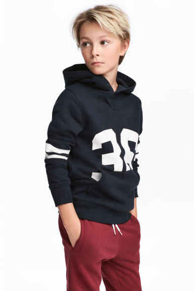 Hooded top - Dark blue - Kids | H&M