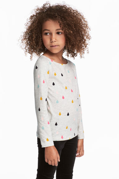 2-pack jersey tops - Pink/Raindrops - Kids | H&M GB