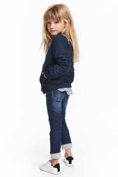 Skinny Lined Jeans - Dark denim blue - Kids | H&M