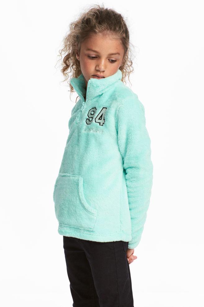 16e14ad7 Lodden genser - Turkis - BARN   H&M ...