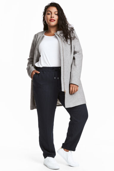 H&M+ Wool-blend coat - Grey -  | H&M