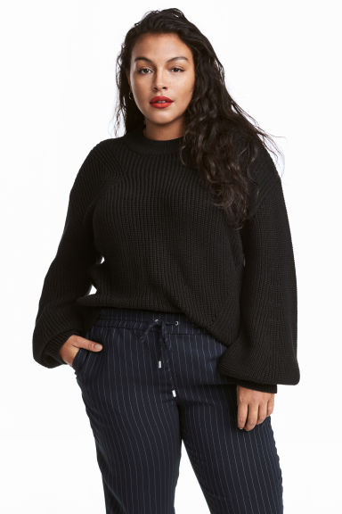 H&M+ Knitted jumper - Black - Ladies | H&M