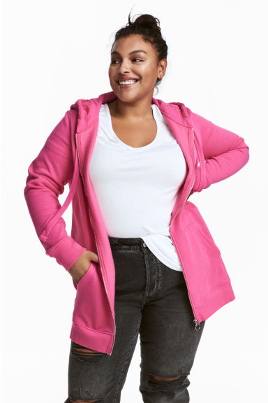 H&M+ Hooded jacket - Cerise - Ladies | H&M CN