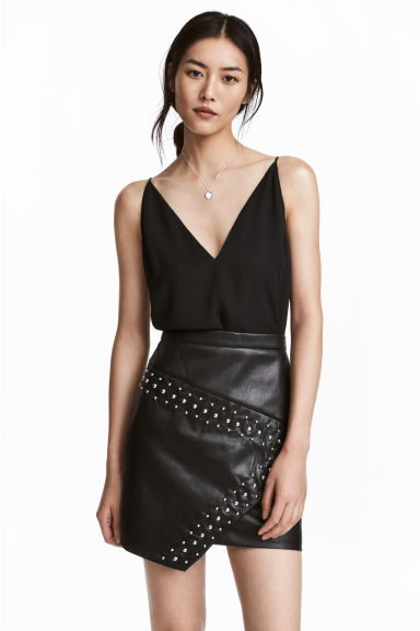 Top à encolure en V - Noir -  | H&M BE