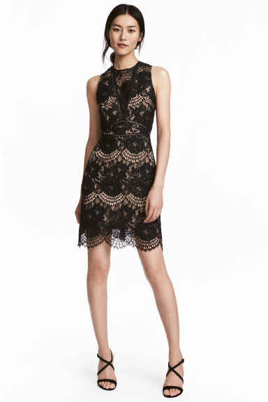Lace dress - Black - Ladies | H&M GB