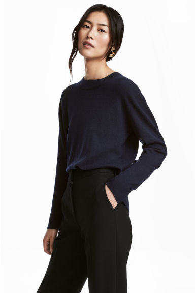 Cashmere jumper - Dark blue -  | H&M IE