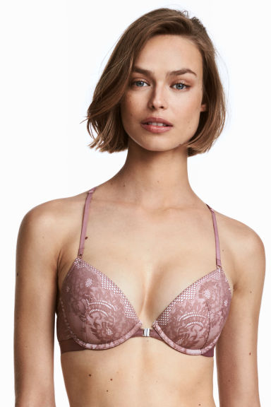 Lace push-up bra - Heather - Ladies | H&M