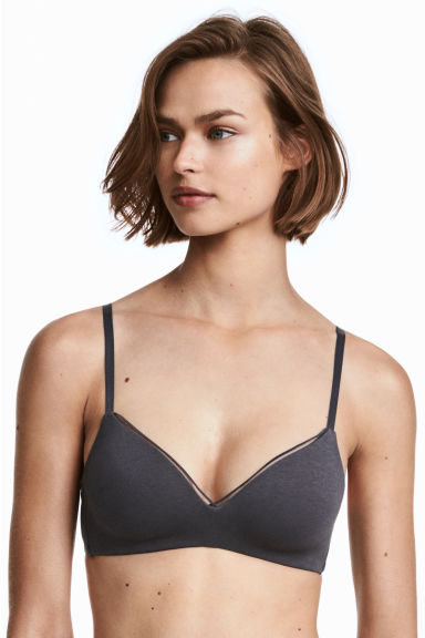 Non-wired bra - Grey - Ladies | H&M GB