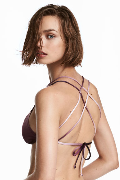 Triangle bikini top - Purple -  | H&M