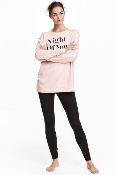 Pyjamas with top and leggings - Powder pink - Ladies | H&M GB