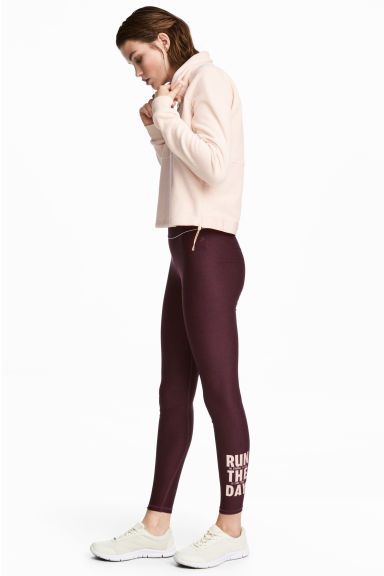 Collant training - Bordeaux - FEMME | H&M BE