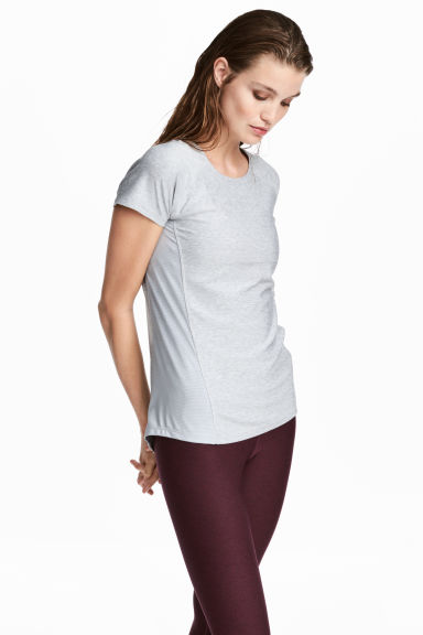 Sports top - Light grey - Ladies | H&M