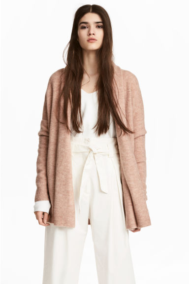 Shawl-collar cardigan - Light beige - Ladies | H&M CN