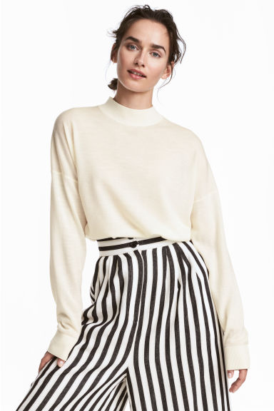 Merino wool jumper - White - Ladies | H&M GB