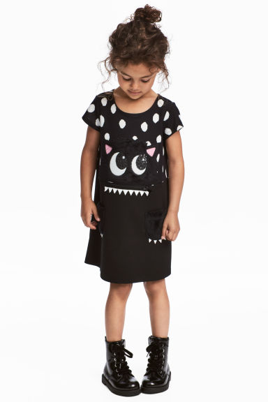 Jersey dress - Black - Kids | H&M GB