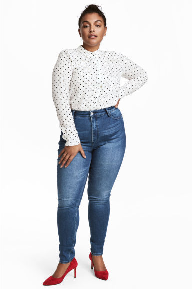 H&M+ Skinny High Jeans - Denim blue - Ladies | H&M