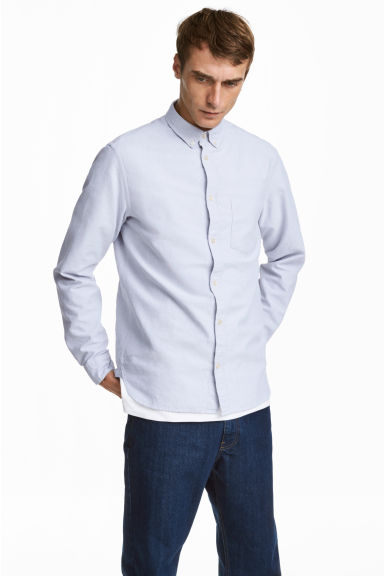 Oxfordhemd - Regular fit - Lichtgrijs -  | H&M BE