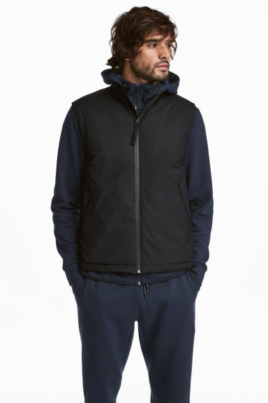 Padded sports gilet - Black - Men | H&M