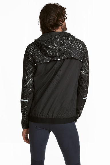 Running jacket - Black/Patterned -  | H&M