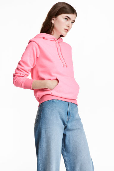 Hooded top - Neon pink - Ladies | H&M CN