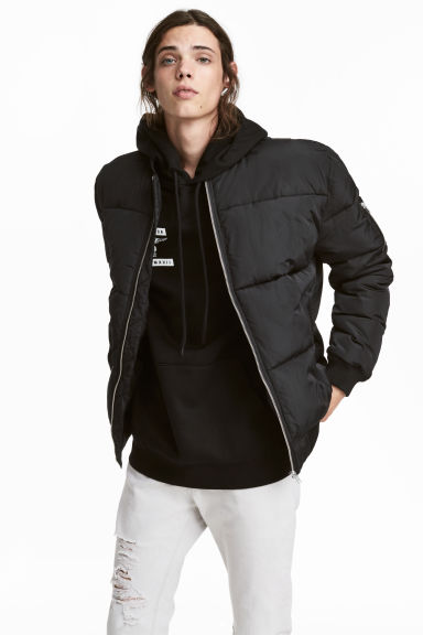 Quilted bomber jacket - Black -  | H&M GB