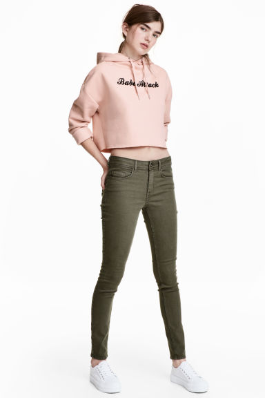 Super Skinny Regular Jeans - Khaki green -  | H&M CN
