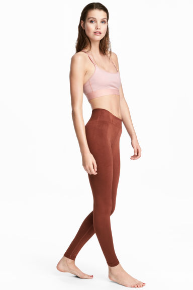 Sports tights - Rust brown - Ladies | H&M IE