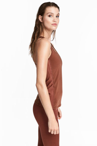 Sports vest top - Rust brown - Ladies | H&M