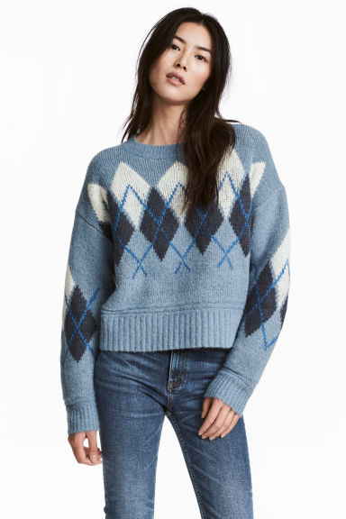 Knitted jumper - Light blue - Ladies | H&M