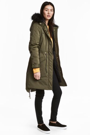Padded parka - Green -  | H&M
