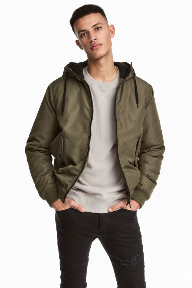 Padded jacket - Green - Men | H&M CN